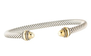 David Yurman Sterling silver 14K yellow gold David Yurman Cable Classic cuff