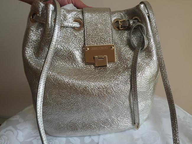 Jimmy Choo Silver Champagne Leather Cross Body Bag Jimmy Choo Silver Champagne Leather Cross Body Bag Image 1