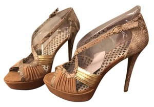 Jessica Simpson Dark Camel Combo Sandals