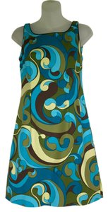 Becky & Max short dress Turquoise, olive green, brown and yellow Pucci-like Pattern & Fun Everyday 97%cotton3%spandex on Tradesy