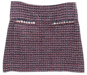 Chanel Mini Skirt Blue, Red, Black