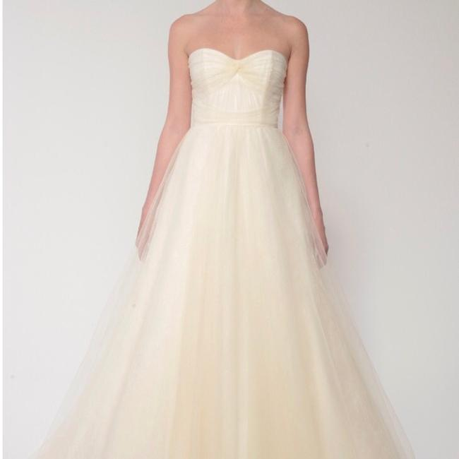 Item - White Tulle and Chantilly Lace Traditional Wedding Dress Size 4 (S)