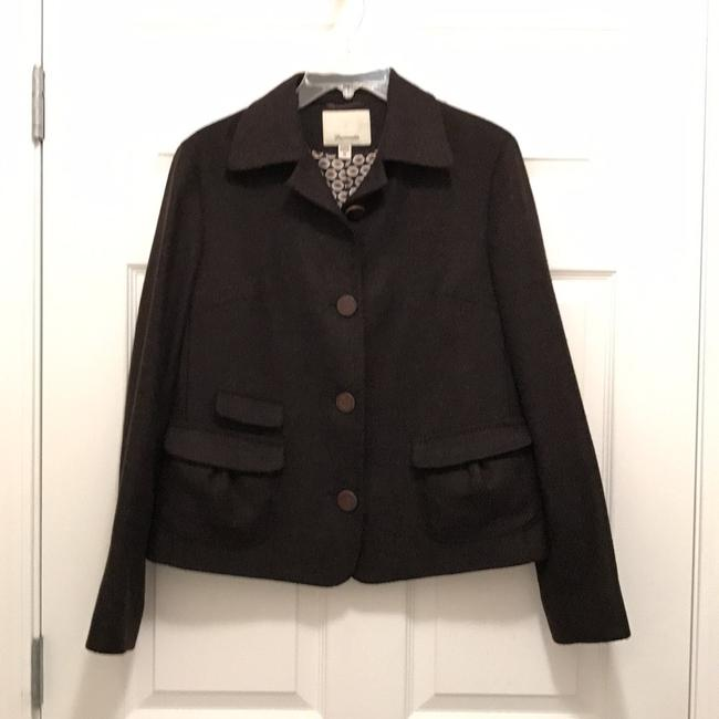Preload https://img-static.tradesy.com/item/21328976/faconnable-brown-black-light-weight-wool-and-silk-blend-coat-size-8-m-0-0-650-650.jpg