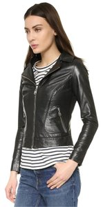 DOMA Leather Free People Biker Moto Motorcycle Jacket