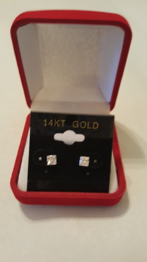 Other SOLITARE PRINCESS CUT ( 4 MM/ 14K GOLD ) Baby/ Girls/ teens STUD