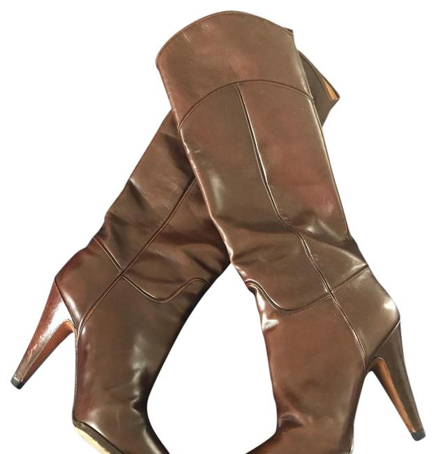 Brown Italian Leather Boots/Booties Size US 5.5 Regular (M, B) Brown Italian Leather Boots/Booties Size US 5.5 Regular (M, B) Image 1