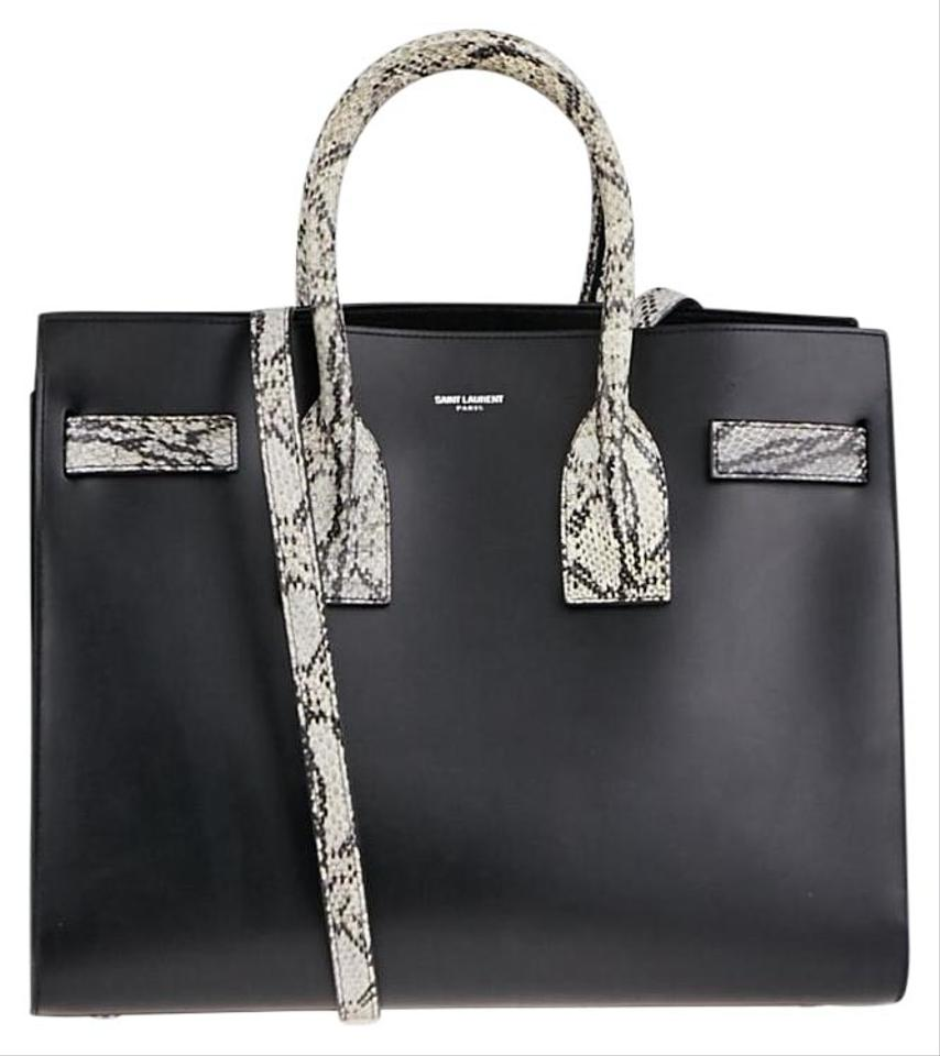 C quality  Saint Laurent Sac De Jour Small Python Tote in Black ... brand  new 6d4ab ... 0ee2fb1579