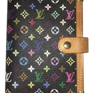 Louis Vuitton Authentic Louis Vuitton Multicolor Agenda Pm - Black