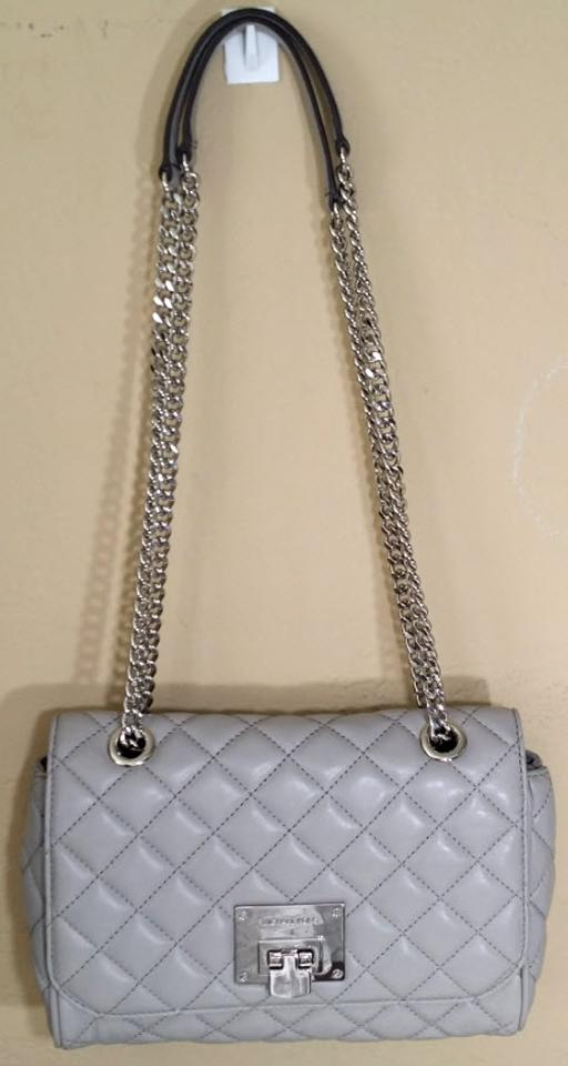 11e28ff5bee2e9 Michael Kors Vivianne Vs Sloan Editor Md Chain Quilted Pearl Gray ...
