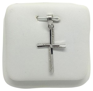 Other 14K White Gold Cross Pendant
