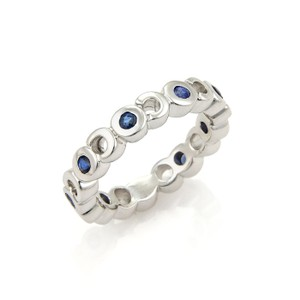 Chanel #20639 Chanel Sapphire COCO Eternity 18k White Gold Band Ring