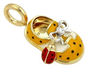 Aaron Basha #20636 Aaron Basha 18k Gold Diamond Ladybug Saddle Charm