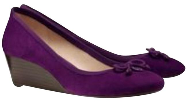 Item - Sweet Plum Soho Chelsea 45mm Lux Suede Wedges Size US 7 Regular (M, B)