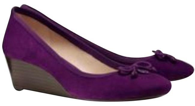 Item - Sweet Plum Soho Chelsea 45mm Lux Suede Wedges Size US 8 Regular (M, B)