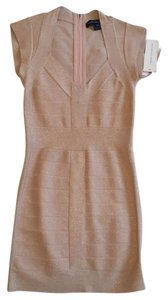French Connection short dress Bandage Rose Gold Cocktail Wedding Guest on Tradesy