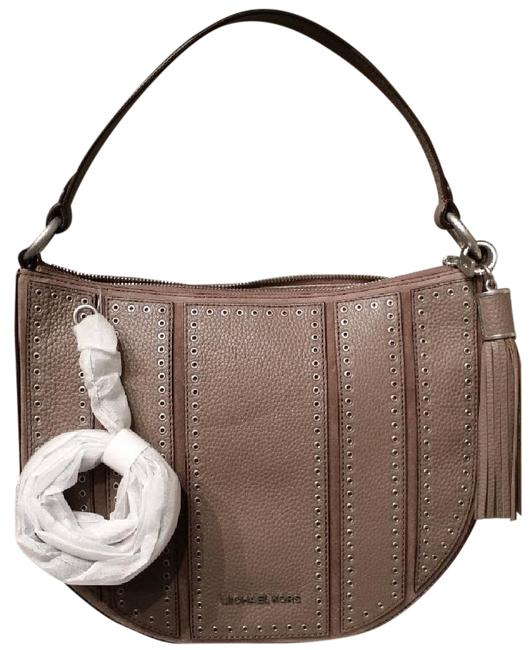 Michael Kors Brooklyn Grommet Convert Adj Long Strap Cinder Leather Hobo Bag Michael Kors Brooklyn Grommet Convert Adj Long Strap Cinder Leather Hobo Bag Image 1