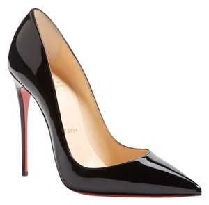 Christian Louboutin So Kate Pointy Toe Patent Leather Black Pumps
