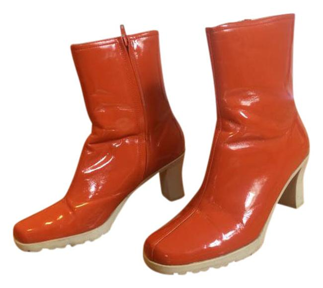 Item - Orange Patent Leather Upper Boots/Booties Size US 10 Regular (M, B)