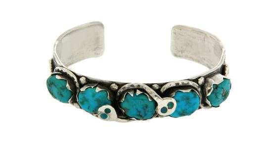 Preload https://img-static.tradesy.com/item/21329809/sterling-silver-turquoise-figural-snake-cuff-bangle-65-bracelet-0-0-540-540.jpg