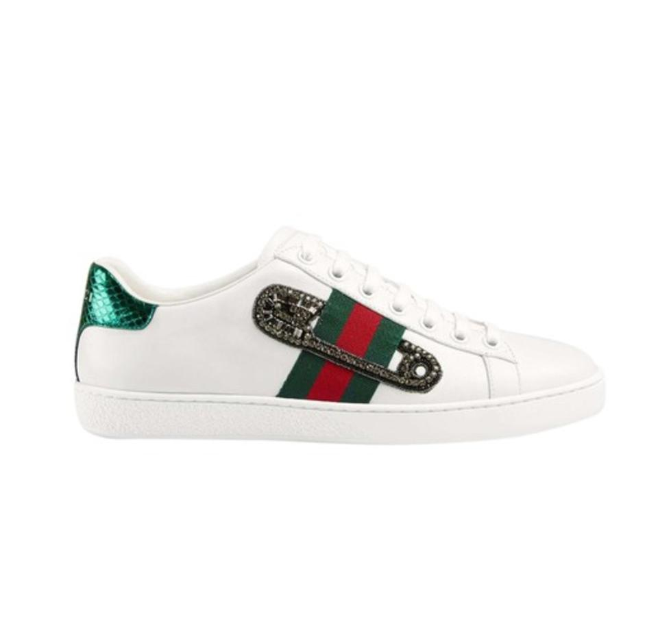 5160c5251ed2 Gucci Multicolor Ace Safety Pin Embroidered Low-top Sneaker Multiple ...