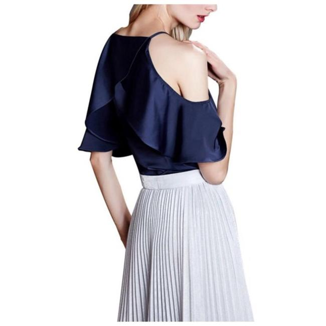 Other Silky Ruffle Top Blue
