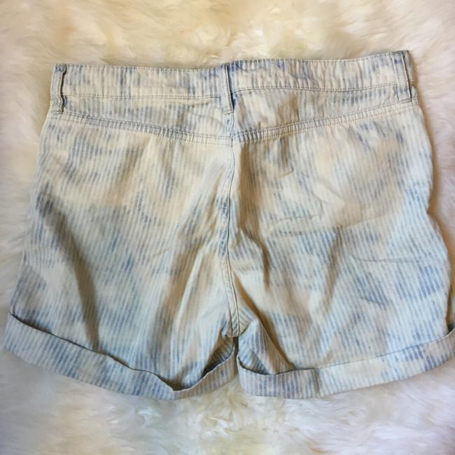 J.Crew Cuffed Shorts blue and white