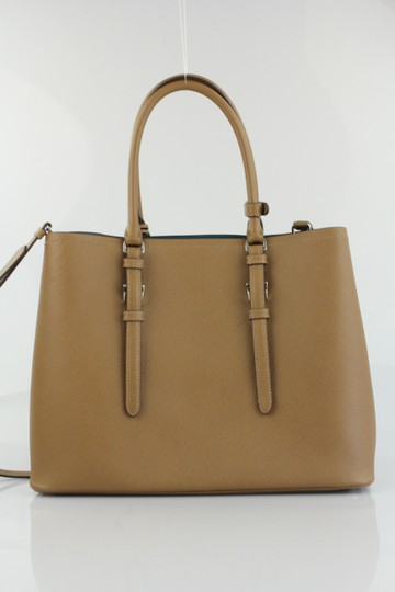 Prada Dust Covers Both Id Cards Care Booklet Tote in Cognac