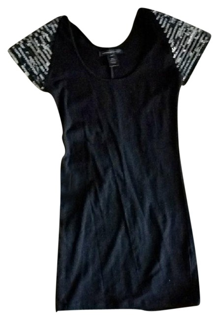 Preload https://img-static.tradesy.com/item/21330004/urban-behavior-black-fitted-sequined-cocktail-padded-shoulders-short-night-out-dress-size-0-xs-0-1-650-650.jpg