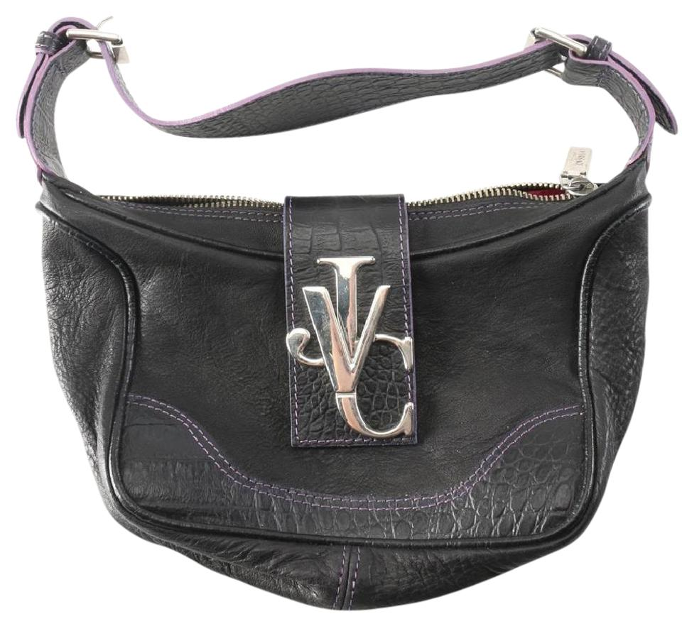87465a3608 Versace Handbag Black Leather Baguette - Tradesy