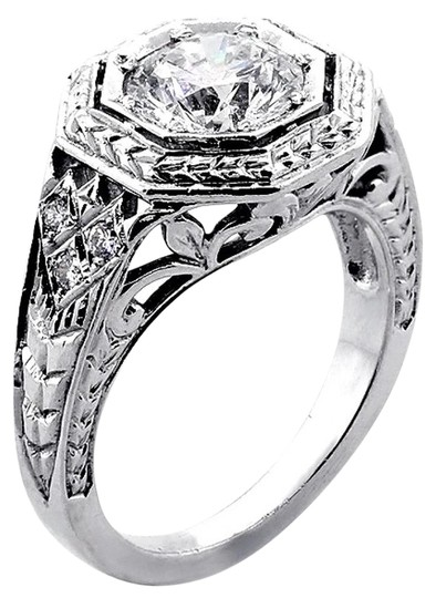 Preload https://img-static.tradesy.com/item/21330073/f-vs2-172-cts-round-cut-vintage-engagement-ring-0-1-540-540.jpg