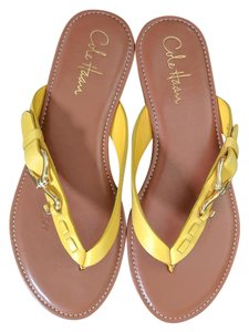 Cole Haan Flip Flops Yellow / Gold Sandals