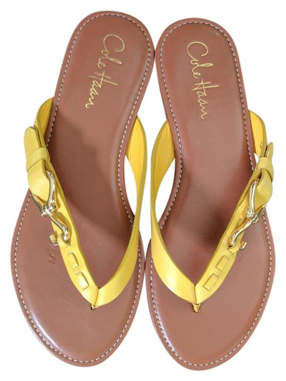Preload https://img-static.tradesy.com/item/21330089/cole-haan-yellow-gold-leather-like-new-sandals-size-us-75-regular-m-b-0-1-540-540.jpg