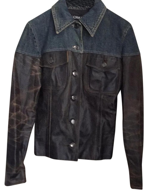 Preload https://img-static.tradesy.com/item/21330142/chanel-distressed-leatherdenim-jacket-size-4-s-0-2-650-650.jpg