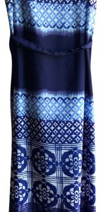 Shades of Blue and White, Navy, Cerulean, Periwinkle, Indigo Maxi Dress by Ann Taylor