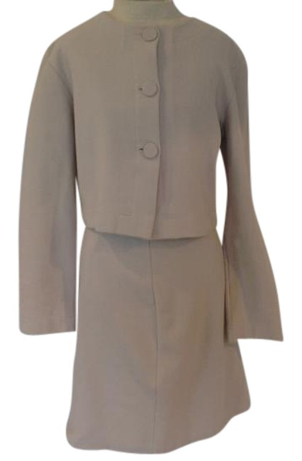 Preload https://img-static.tradesy.com/item/21330282/agnes-b-beige-made-in-france-skirt-suit-size-8-m-0-1-650-650.jpg