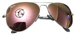 Ray-Ban Ray Ban Aviator Flash Lenses in silver/pink/copper