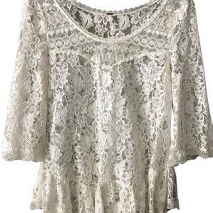 Free People Lace Tunic Tops Top cream