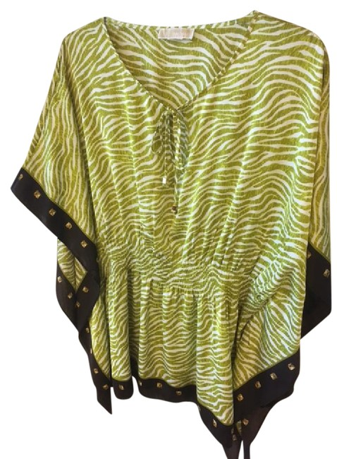Preload https://img-static.tradesy.com/item/21330365/michael-kors-greenbeigechoc-brown-poncho-blouse-size-16-xl-plus-0x-0-1-650-650.jpg