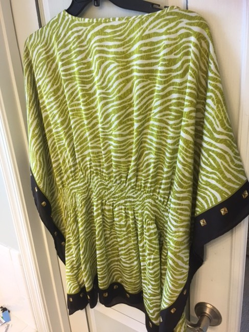 Michael Kors Plus-size Top green/beige/choc brown