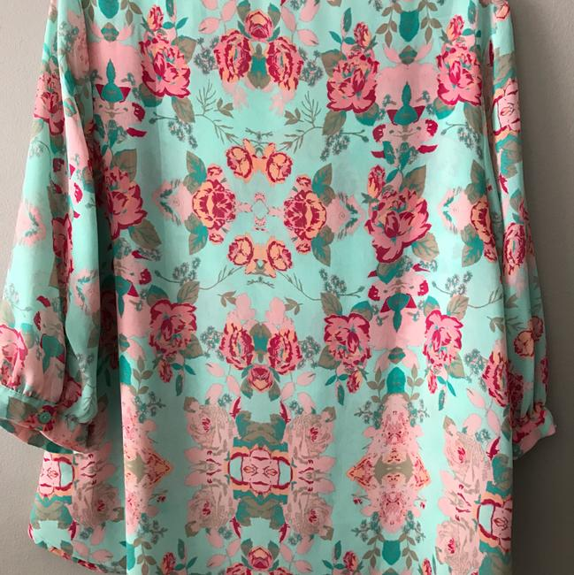Forever Floral Chiffon Print Top mint