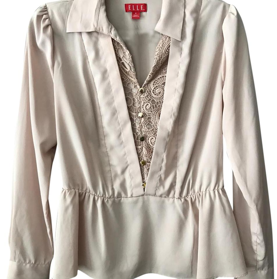 Elle Pink Collar Blouse Size 4 S Tradesy