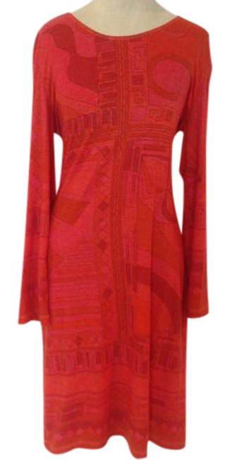 Preload https://img-static.tradesy.com/item/21330402/orange-and-red-mod-style-mid-length-cocktail-dress-size-4-s-0-1-650-650.jpg