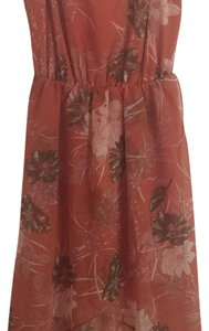 O'Neill short dress floral/burnt orange on Tradesy