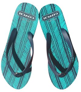 Coach Navy/Turquoise Sandals