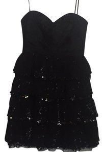 BCBGMAXAZRIA Sequins Tulle Silk Sweetheart Dress