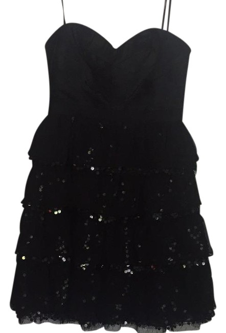 Preload https://img-static.tradesy.com/item/21330530/bcbgmaxazria-black-sweetheart-sequin-layered-short-cocktail-dress-size-0-xs-0-1-650-650.jpg