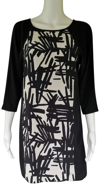 Preload https://img-static.tradesy.com/item/21330531/tibi-black-white-silky-mini-34-sleeves-short-night-out-dress-size-2-xs-0-3-650-650.jpg
