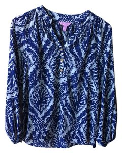 Lilly Pulitzer Top Navy Blue