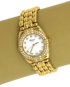 Chopard Diamond Bezel 18k Yellow Gold Ladies Wrist Watch Quartz