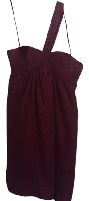 Preload https://img-static.tradesy.com/item/21330565/bcbgmaxazria-burgundy-chiffon-cross-strap-short-cocktail-dress-size-0-xs-0-1-650-650.jpg